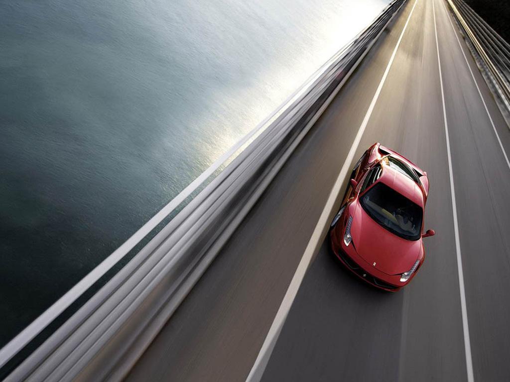 红色法拉利458 italia壁纸高清大图下载,可用于广告 印刷素材–