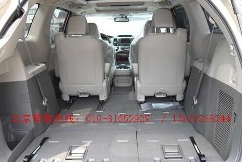 丰田商务车塞纳座椅空间高清图片
